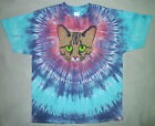 BROWN TABBY CAT FACE TIE DYE T-SHIRT TIGER CAT