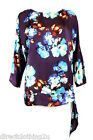 NEW M&Co MandCo LADIES  FLORAL TOP sz 8-20 PURPLE