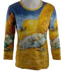 Breeke & Company - Van Gogh's Haystack, Hand Silk-Screened Woman's Artistic Top