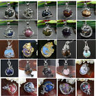 Punk Gemstone Gems Dragon Wrap Inlaid Ball Charm Pendant Bead For Necklace DIY