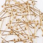 Wholesale Shiny Plated Golden Copper Ball Head Pins Fit Jewelry Handmade DIY