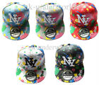 ADULTS/MENS/LADIES NEW YORK NY PAINT SPLASH SNAPBACK HIP HOP BASEBALL CAP HAT
