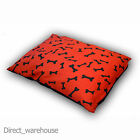 Large or Extra Large Dog/Pet Snuggle Bed Pillow, Bone Orange, Cover or Filled
