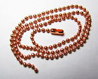 3 Beautiful Faceted Ball Solid Copper Chain Necklace Various  Custom Sizes