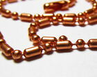 Elegant Sold Copper Bar & Ball Chain Necklaces Various Sizes & Custom Sizes