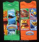 SKYLANDERS GIANTS Boys 4 5 6 7 Short Sleeve SHIRT Tee Top Tree Rex Pop Fizz