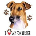 Fox Terrier Love T Shirt Pick Your Size