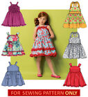 SEWING PATTERN! MAKE DRESS~SUNDRESS! SIZES TODDLER 2 TO CHILD 8! SUMMER CLOTHES!