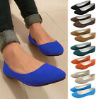 New Ladies Ballerina Dolly Microsuede Pump Womens Slippers Flat Shoes