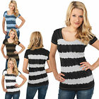URBAN CLASSICS DAMEN LADIES DIP DYE STRIPE TEE BATIK TOP T-SHIRT  XS - XL