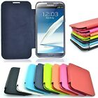 For Samsung Galaxy Note 2 II N7100 Slim Hard Luxury Case Cover Flip Leather PU