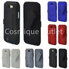 NEW RUBBERIZED HARD CASE with BELT CLIP HOLSTER FOR SAMSUNG GALAXY NOTE 2 II