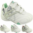 WOMENS LADIES WHITE FAUX LEATHER TRAINERS RUNNING SHOES