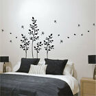 Flower Blowing Leaves Plant Vinyl Wall Stickers, Wall Decals, Wall Art