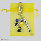 Despicable Me 2 Inspired Personalised Minion Bag / Key Charm Gift