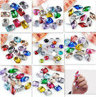 Shiny Flatback Faceted Resin Rhinestone Crystal Nail Art Phone Tips Card Sticker