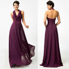 Sexy Women's Bridesmaid Prom Formal Party Evening Cocktail Maxi Halter Dress New