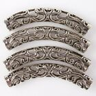 25/125pcs New Hollow Core Tube Antique Silver Alloy Beads Charms Fit European