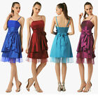 Short Taffeta Cocktail Bridesmaid Dress for Homecoming Prom Party Dress 6 8 10+