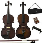 Cecilio Ebay Exclusive Ebony Fitted Solidwood Violin in Antique Satin or Varnish