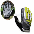Autumn Cycling Bike Special Bicycle 3D GEL Sports Full Finger Glove M-XL Green