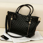 Celebrity Women Handbag Shoulder Messenger Bag Tote Satchel Shoppers Purse Black