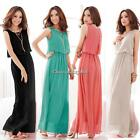 Pleated Wave Lace Strap Chiffon Maxi Long Dress C1MY Women Princess Bohenmia