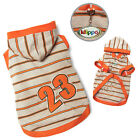 New Klippo Sporty #23 Dog Striped Hoodie Jersey Sweater Various Sizes
