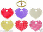 FABRIC 13cm HEART drops IRON-ON FANCY KIDS PARTY DIY TSHIRT CRAFT APPLIQUE PATCH