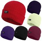 LADIES THINSULATE BEANIE HAT FLEECE LINED WINTER SKI 6 COLOURS