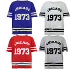 WOMENS LADIES VARSITY CHICAGO 1973 AMERICAN FOOTBALL SPORTS TEE T-SHIRT VEST TOP