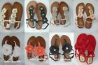 NEW PRIMARK STRAPPY FLOWERS FLAT SUMMER SANDALS GLADIATOR SHOES UK 3-8