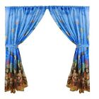 Underwater Sea Life 100% Polyester Window Curtain with Tie-Backs