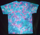 BLUE AND PINK CRINKLE TIE DYE T-SHIRT