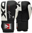 Auth RDX Rex Leather Boxing Gloves Fight Punch Bag MMA Muay Thai Grappling Pad C