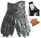 WOMENS LADIES 100%  LEATHER THERMAL TOUCH SCREEN SMART GLOVES FOR IPHONE  IPAD