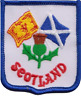 More images of Scotland Scottish Thistle Saltire and Lion Rampant Flag Embroidered Patch Badge