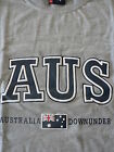 AUSTRALIAN SOUVENIR GREY COTTON T SHIRT  AUS