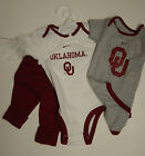 NEW Infant Toddler NIKE OKLAHOMA 3 pack Sooners NCAA Shirts Bodysuits Pants