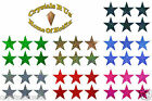 50mm STARS FABRIC IRON-ON CUSTOMIZE GYMNASTIC DANCE PARTY TSHIRT PATCH APPLIQUE