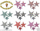 3 STAR FABRIC IRON-ON CUSTOMIZE DIY GYMNASTIC DANCE PARTY TSHIRT PATCH APPLIQUE