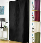 NEW Embossed Thermal Door Curtain Panel Energy Saving Draught Draft Heat Loss