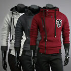 Stylish Men Slim Fit Jackets Coats Zipper Jumper Outerwear Hoodies Size S M L XL