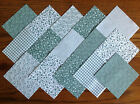 SAGE GREEN ~ COTTON FABRIC PATCHWORK SQUARES PIECES CHARM PACK 2, 3, 4, 5 INCH
