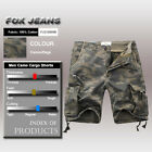 NEW MENS FOXJEANS CAUSAL CAMO MILITARY ARMY CARGO WORK SHORTS SIZE 32-44