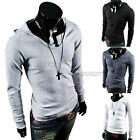 Mens Casual Slim Fit Long Sleeve Hooded Hoodie T-Shirt Tops