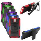 Hybrid Case For Samsung Galaxy Note 3 Silicone Corner Hard Cover Stand+ Holster
