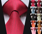 "TC2001R Check Multi Colors 4"" Jacquard Classic 100%Silk Man's Tie Necktie"