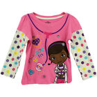 """Disney Doc McStuffins """"The Doc is In"""" Toddler Long Sleeve T-Shirt Top  2T 3T 4T"""