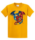 Dragon T-Shirt Red and Blue Dragons Fighting